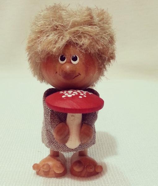 boy with mushroom